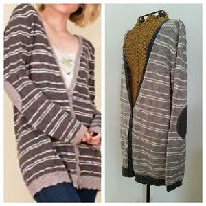 JOIE soft grey striped sweater M